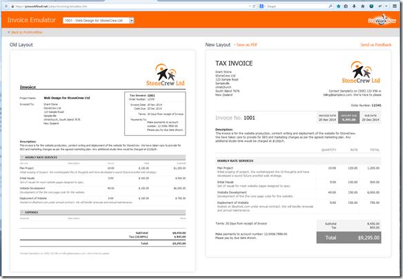 Invoice-emulator
