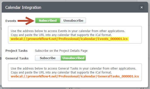 Calendar integration