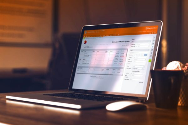 Laptop with ProWorkflow software