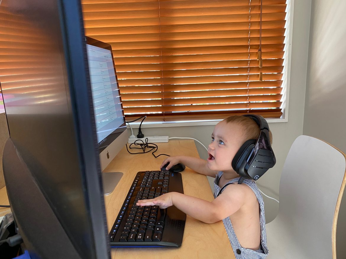 parent working from home