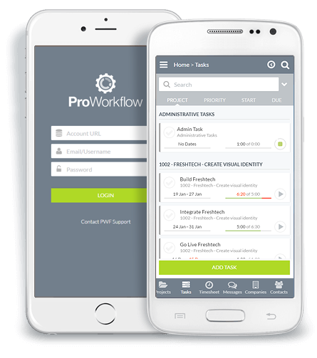 proworkflow mobile