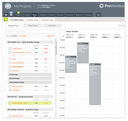 proworkflow time
