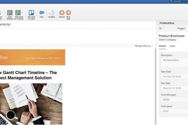 Proworkflow Outlook Project Management Add-on