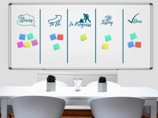 project planning whiteboard